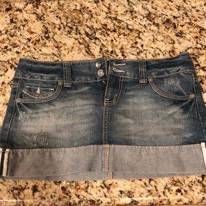 SO Skirts - Denim jean mini skirt - EUC